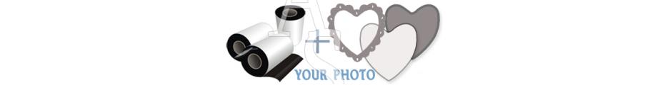 Heart Shape - 77:70 мм. :: Thin Fridge Magnets