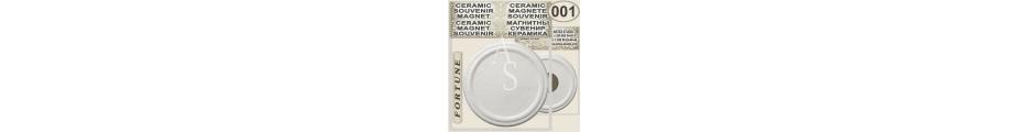 Round Circle shaped 63mm :: Ceramic souvenirs