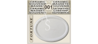 Elliptical Shape 68x53 mm :: Ceramic souvenirs (1)