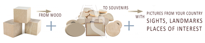 Natural Wood :: Fridge Magnets »