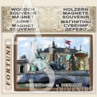 Copenhagen :: Vintage Wood Magnetic Gifts