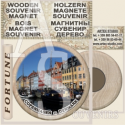 Copenhagen :: Wooden Souvenirs Magnets 53 mm