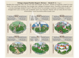 Slovenia, lake Blade :: Stickers Flexible Magnets #01-3