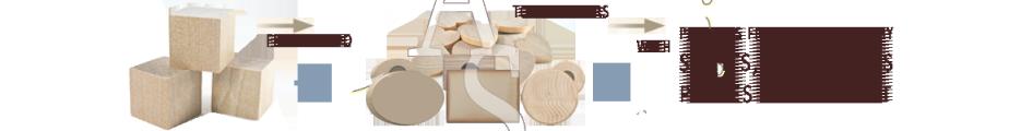 Natural Wood :: Fridge Magnets